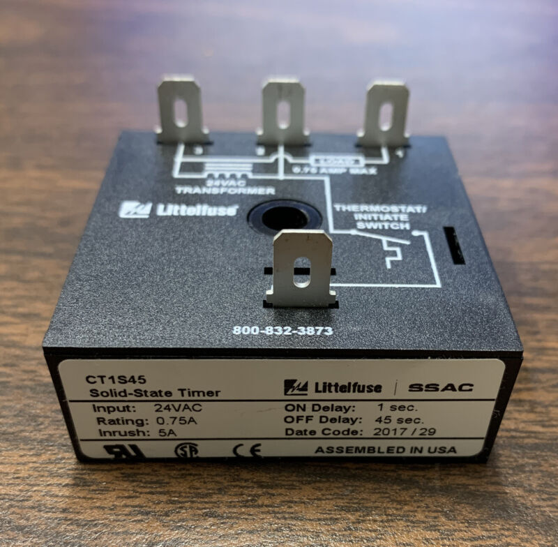 LITTLEFUSE SSAC TIMING RELAY, CT SERIES 24VAC CT1S45