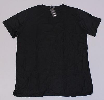 Boohoo Women's Plus Romance Graphic Back T-Shirt Dress MC7 Black Size US:20 NWT