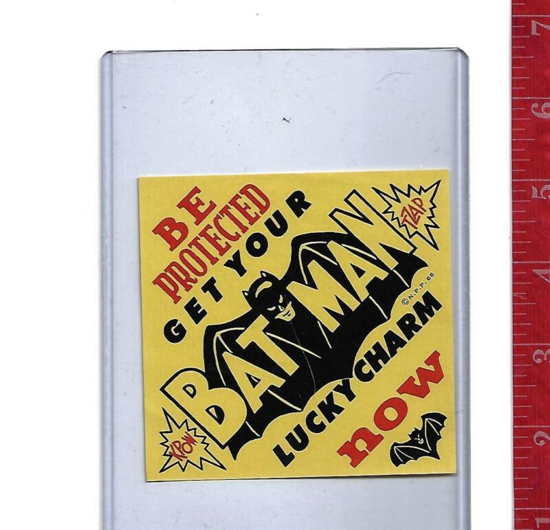 Vintage 1966 gumball display Paper  Batman Lucky Charm machine TZAP