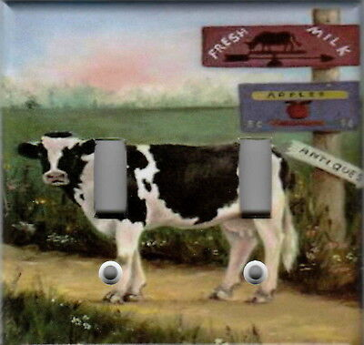 COUNTRY FARM COW HOME DECOR LIGHT SWITCH PLATES OR OUTLETS
