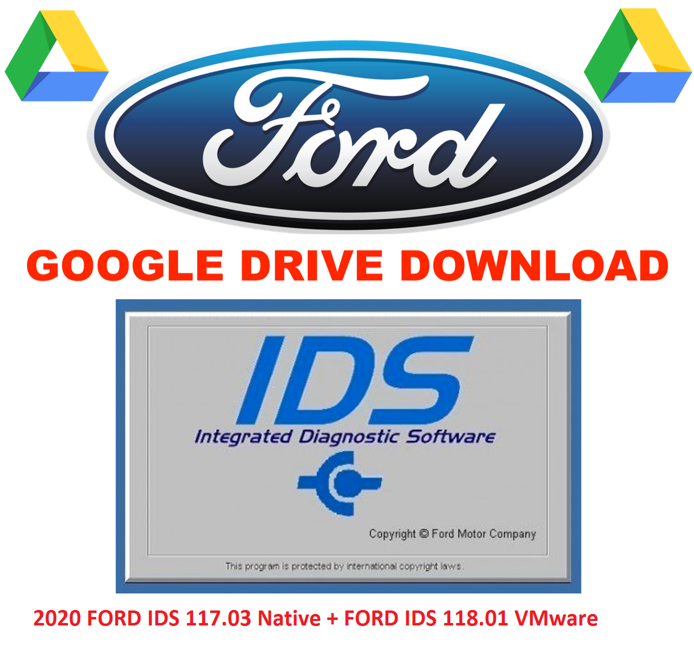 FORD IDS 118.04 & calibration Native installation 2020 + Ford IDS 108.01 VMware