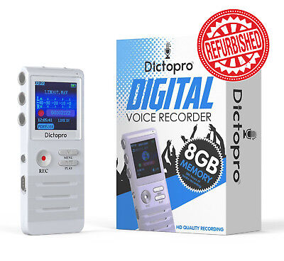 Dictopro Digital Voice Activated Recorder Hd Recording Microphone Spy Dictaphone