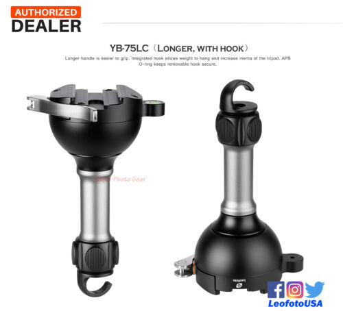 【Leofoto US Dealer】Leofoto YB-75LC 75mm Tripod Leveling Bases Clamp Adapter Bowl