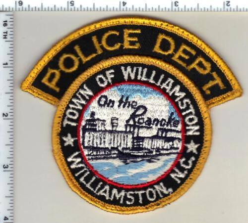 Town of Williamston Police (North Carolina) Uniform Take-Off Shoulder Patch 1990