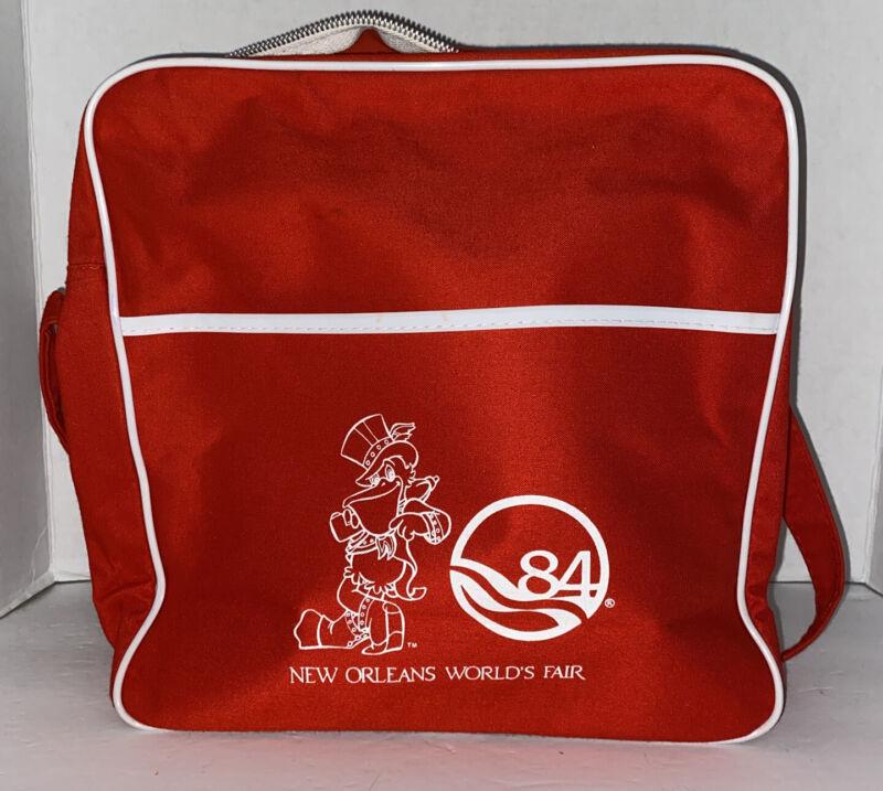 New Orleans Worlds Fair Red Shoulder Bag 1984 Souvenir Collectible EUC
