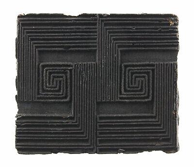 Bunta Stamped Wood Printing Textile Batik 15cm Antique Rajasthan India 9013