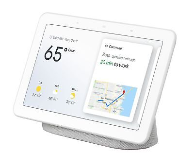 "Google Home Hub with Google Assistant Smart 7"" Display - Chalk Grey SEALED NEW"