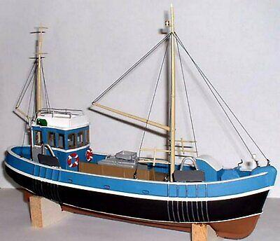 13.7m Pesca Arrastre Barco Enviar OM1a sin Pintar O Escala Langley Models...