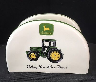 John Deere Tractor Napkin or Mail Holder By Gibson