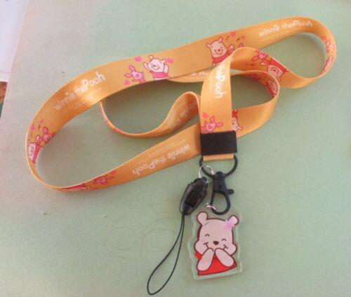 Winnie the Pooh - Disney Trading Pin Lanyard w Detachable Plastic Charm NEW #2