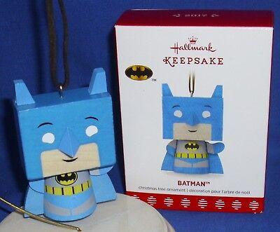 Hallmark Christmas Ornament DC Batman 2017 Painted Wood NIB Free Shipping (Batman Christmas)