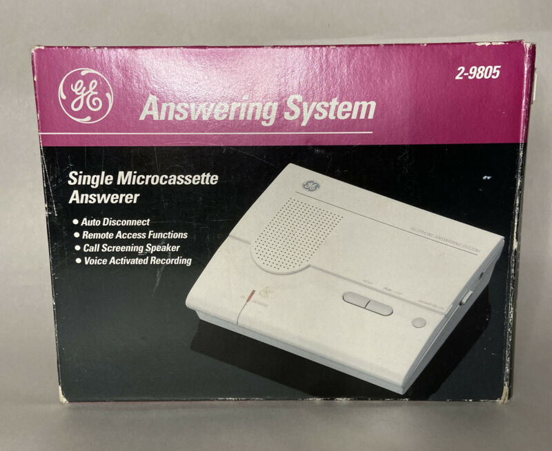Telephone Answering System Model No. 2-9805 Answering Machine