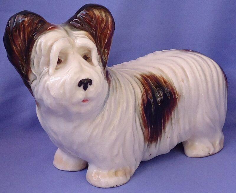 "1940s SKYE SILKY PAPILLON TERRIER GERMANY 9"" DOG"