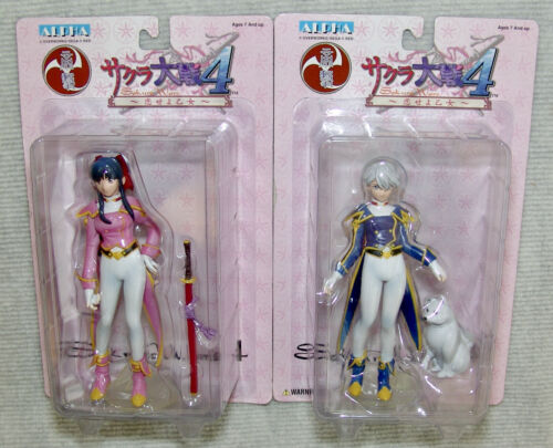 NEW SEGA Sakura Wars 4, 2pc set Sakura Shinguji & Reni Milchstrabe USA SELLER
