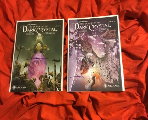 JIM HENSON'S~POWER OF DARK CRYSTAL #1+RETAILER VARIANT~SET~HAND SIGNED JAE LEE