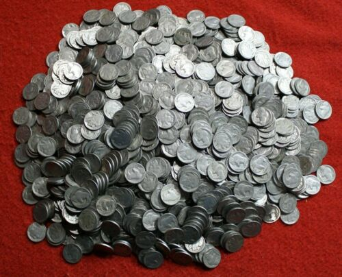 BUFFALO NICKELS MIXED PART DATE COINS ONE ROLL/40 COINS CHECK OUT STORE