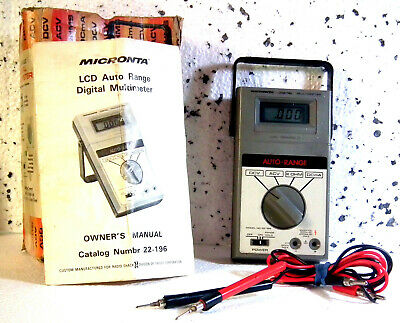 Micronta Radio Shack Lcd Auto Range Digital Multimeter 16 Ranges Auto Polarity