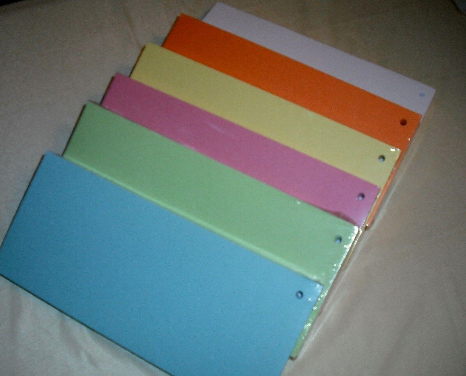 Trennstreifen 100 Stück verschiedene Farben 190g/ m²