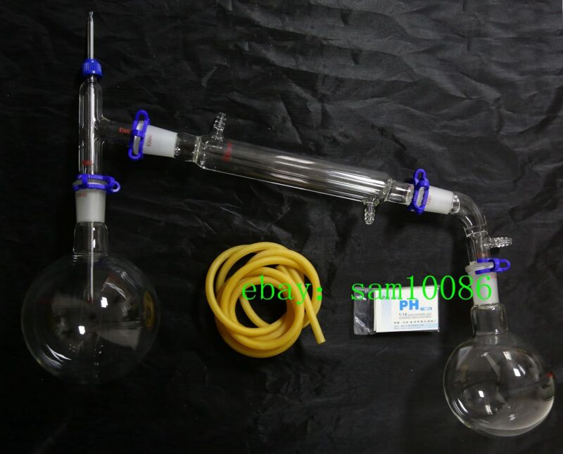 1000ml Chemistry Lab Glassware Kit,Glass Distilling,Distillation Apparatus,24/40