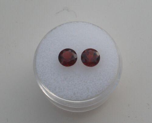 Garnet Round Loose Faceted Natural Gem Pair 6mm