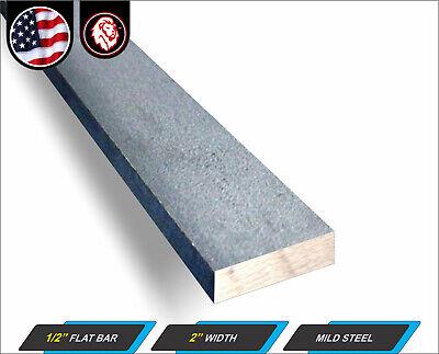 12 X 2 Steel Flat Bar - Metal Stock - Plain Finish - 24 Long 2-ft