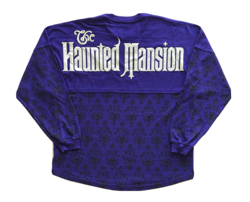 NEW Disney Parks The Haunted Mansion Ghost Host Spirit Jersey Size XL