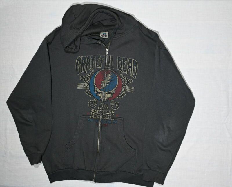 NEW VTG Grateful Dead American Music Hall Soft Zippered Hoodie Men