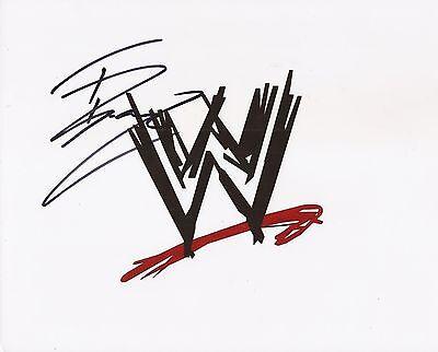 WWE WRESTLING: TYLER BREEZE SIGNED 10x8 EMBLEM PHOTO+COA **PROOF**