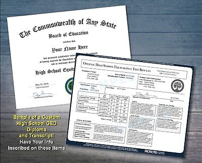 High School GED Equivalency Diploma & Transcript - Home Schooling Official Seal