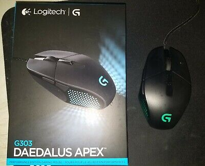 Logitech G303 Daedalus Apex Performance Gaming Mouse BEST DPI Sensor Claw