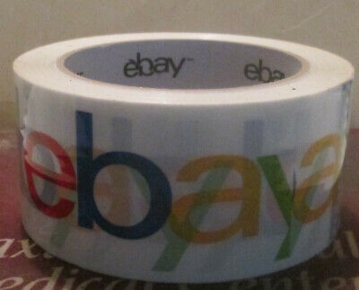 New 1 Roll White Official Ebay Branded Packaging Tape Shipping Supplies