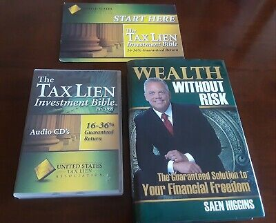 TAX LIEN CERTIFICATES INVESTING By Saen Higgins w/NRI REAL ESTATE COURSE BINDERS