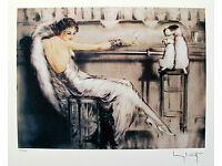 LOUIS ICART Signed Limited Edition Small Giclee Art PARASOL