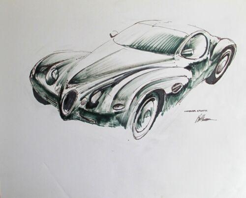 Chrysler Atlantic Original Drawing By Bob Grossman