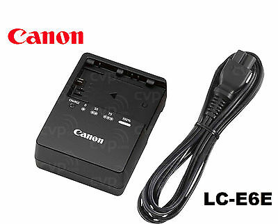 Genuine OEM CANON 80D 60D 6D 7D 5D Mark II LP-E6 Battery Charger LC-E6 LC-E6E