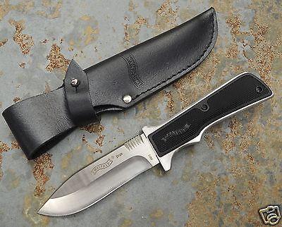 Walther PP Messer Jagdmesser Sammlermesser 440C Stahl + Lederscheide