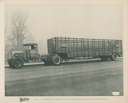 1930s Sterling Trucks Federal Transfer Semi Tractor Trailer Baltimore Maryland