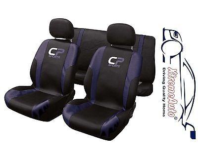 9 Piece Blue CP Sport Seat Covers Citroen C1 C2 C3 C4 C5 C6 DS3 DS4 Saxo