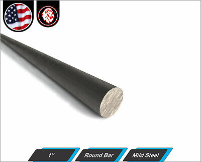 1 Round Bar - Solid Mild Steel - Round Metal Stock - 60 Length 5-ft