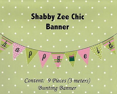 Bunting Happy Eid Banner Shabby Zee Chic Islamic Muslim Holiday Decoration