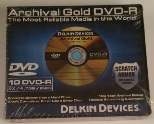 DELKIN - DDVD-R-SA/10 CASE - Blank DVD-R Discs- sealed..