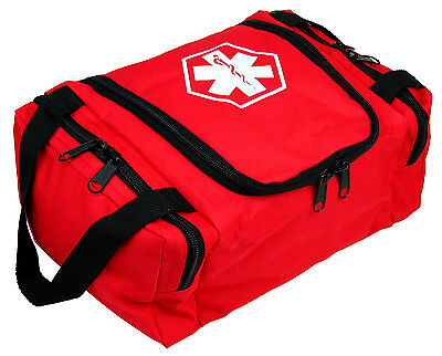 Dixie Ems First Responder Emt Jump Trauma Bag - Red 10.5x 5 X 8