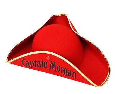 Captain Morgan Rum Piratenhut Hut Hüte Mütze Fasching Karneval Kostüm Cap Rot