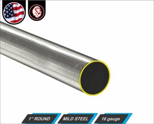 """1"""" Round Metal Tube - Mild Steel - 16 gauge - ERW (12"""" Long)"""
