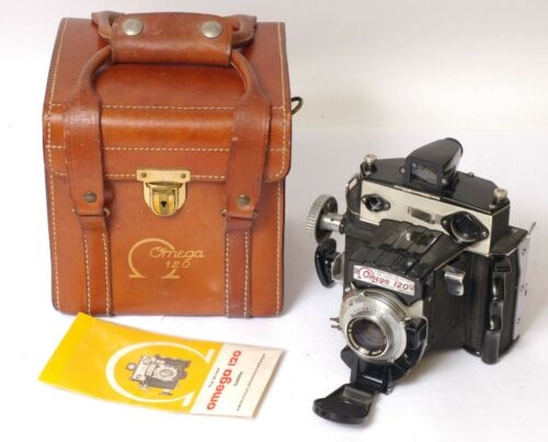 F97062~ Omega 120 Medium Format 120 Film Camera & Case