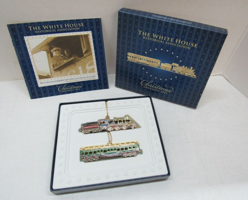The White House Historical Association Christmas Tree Train Ornaments 2014