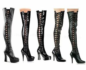 pleaser delight electra 3050 thigh high boots