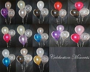 Engagement-Wedding-Helium-Balloon-DIY-Decoration-Clusters-5-Kit-Weights-Ribbon