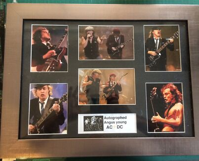 Signed Angus Young Ac / Dc Frame