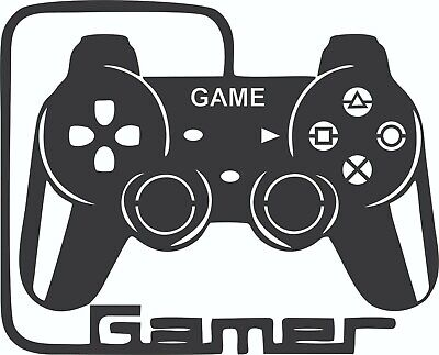 Dxf Files Of Plasma Laser Cut Router - Dxf Cdr Vector Files - Gamer - Wall Decor